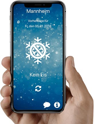 Eiswarnung iPhone App